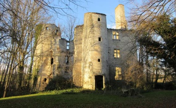 15th century castle with modern house for sale