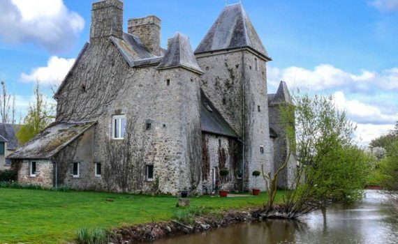 Medieval Moated Chateau for sale Manche France