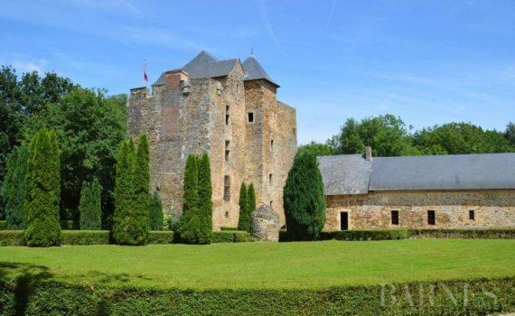 Moated Medieval Castle Segré-en-Anjou Bleu France for sale
