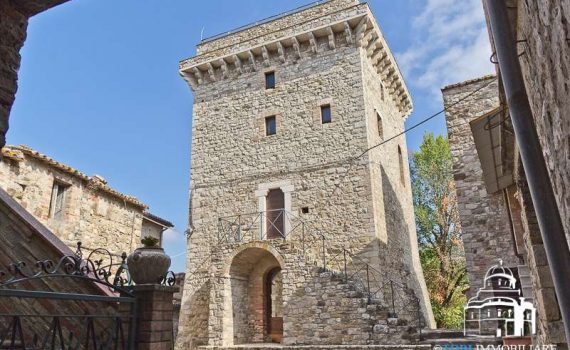Todi Italy Stone Tower 1550 for sale