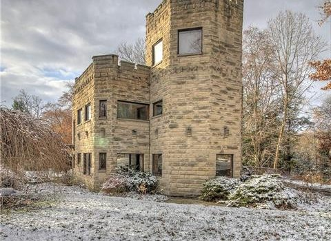 Wilmington PA USA Castle home with partial moat for sale
