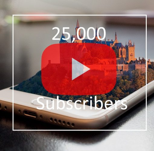 25k Youtube subscribers on Castleist Channel thumb