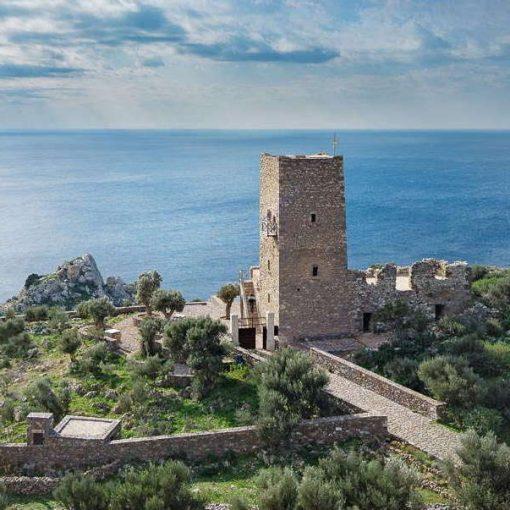 Greek Defensive Tower Tainaron Blue Retreat Mani Interview Thumbnail